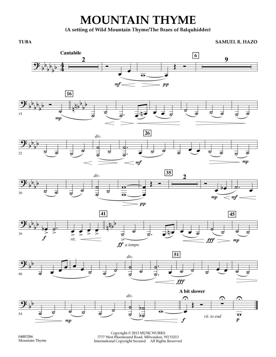 Mountain Thyme - Tuba