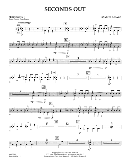 Seconds Out - Percussion 1
