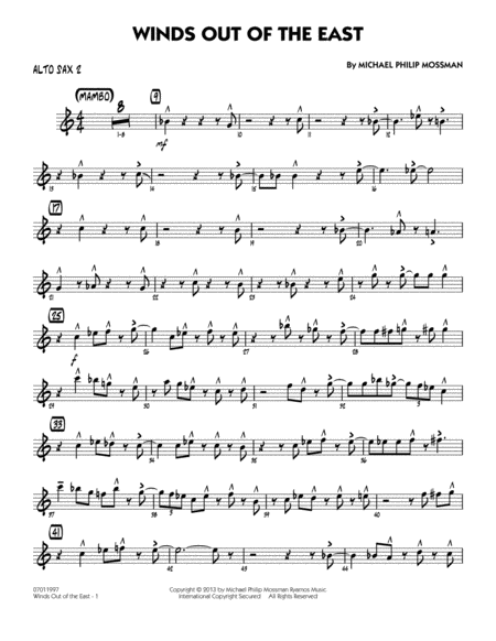 Winds Out Of The East - Alto Sax 2