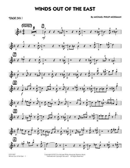 Winds Out Of The East - Tenor Sax 1