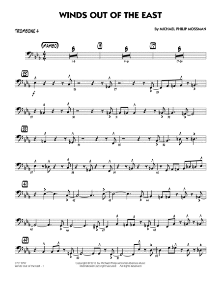 Winds Out Of The East - Trombone 4