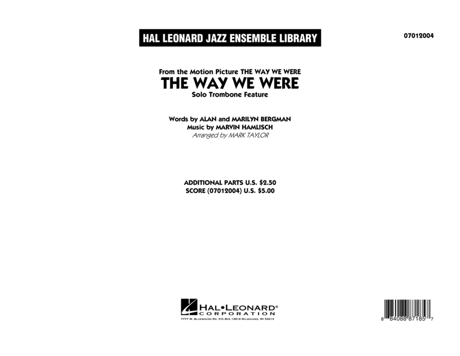 The Way We Were - Conductor Score (Full Score)