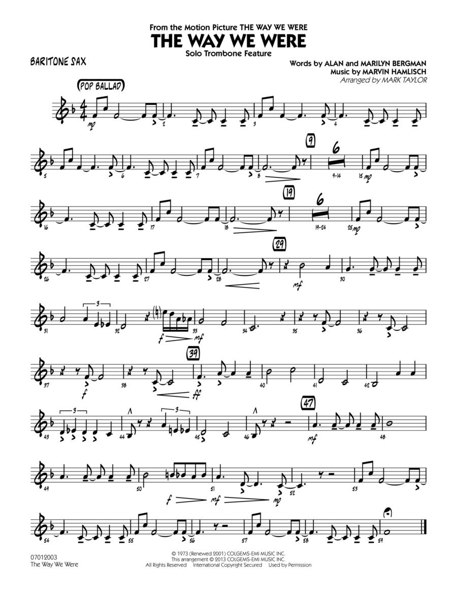 The Way We Were - Baritone Sax