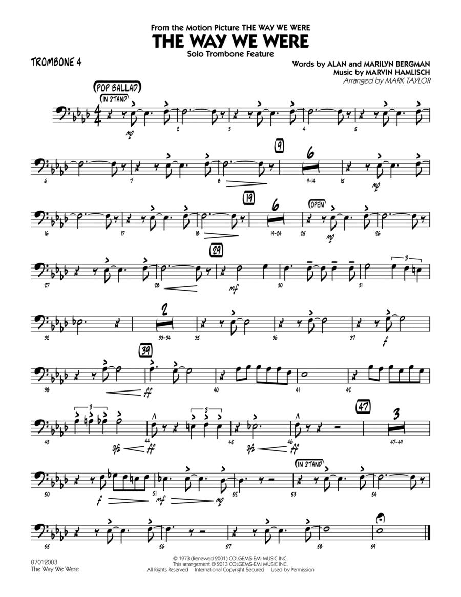 The Way We Were - Trombone 4