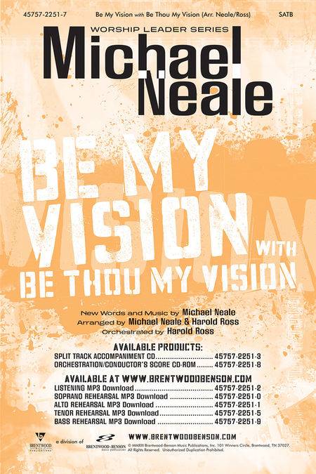 Be My Vision Tenor Rehearsal Track Digital Download
