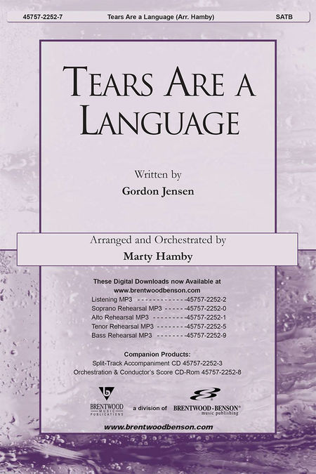 Tears Are A Language God Understands Split Track Accompaniment Cd