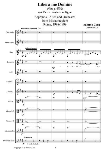 Libera me domine - Sequnce no.13 of the Missa Requiem CS044