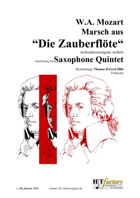 The Magic Flute, Mozart - March (Sax Quintet)