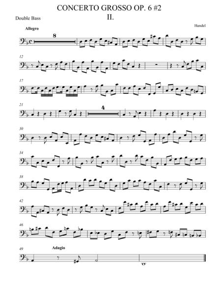 Concerto Grosso Op. 6 #2 Movement II