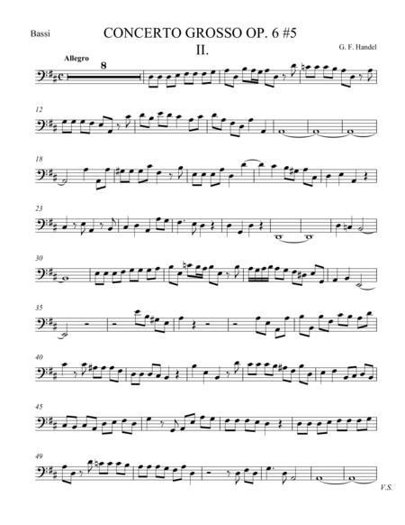 Concerto Grosso Op. 6 #5 Movement II