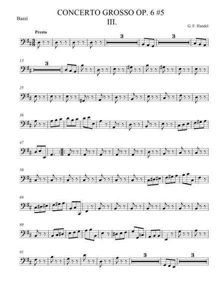 Concerto Grosso Op. 6 #5 Movement III