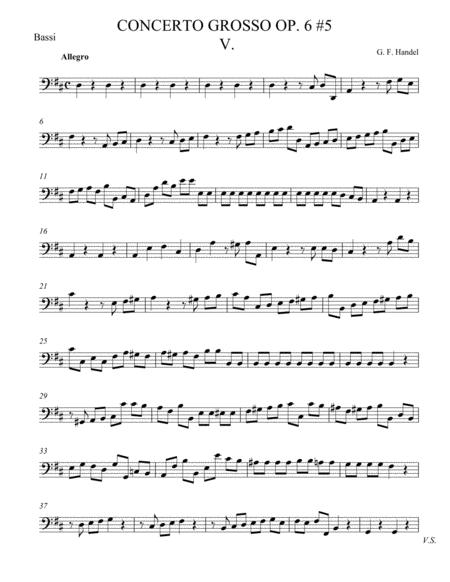 Concerto Grosso Op. 6 #5 Movement V