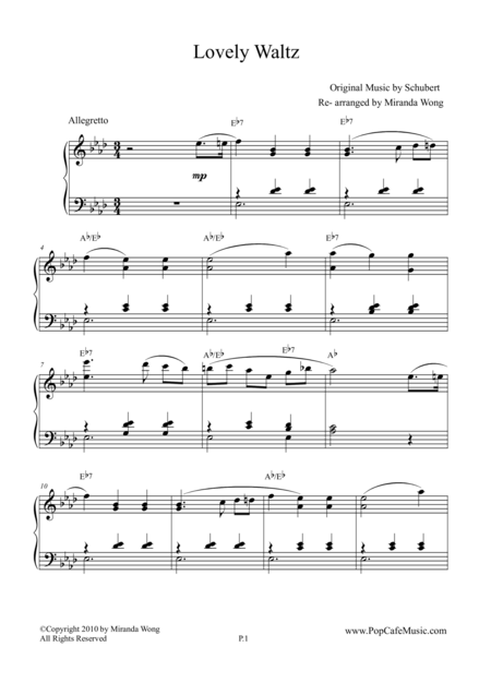 Lovely Waltz in Eb (Op.9 D.365) - Romantic Piano Music