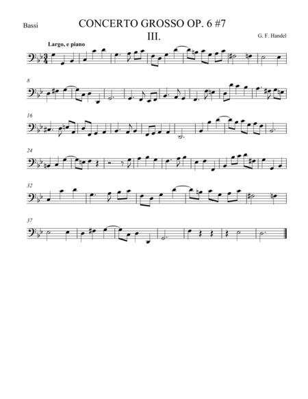 Concerto Grosso Op. 6 #7 Movement III