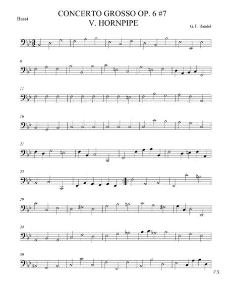 Concerto Grosso Op. 6 #7 Movement V
