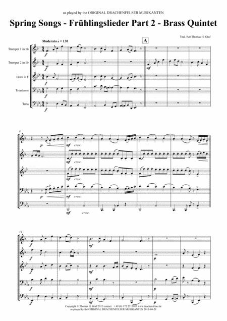 Spring songs Part 2 (Brass quintet)
