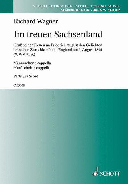 Im treuen Sachsenland WWV 71 A