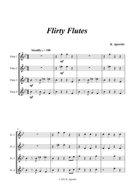Flirty Flutes - Quartet for Young Flute Players