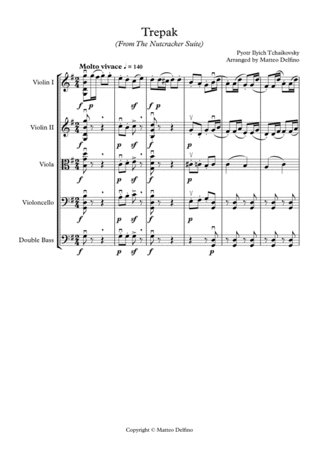 Trepak (From the Nutcracker Suite) [String Orchestra]