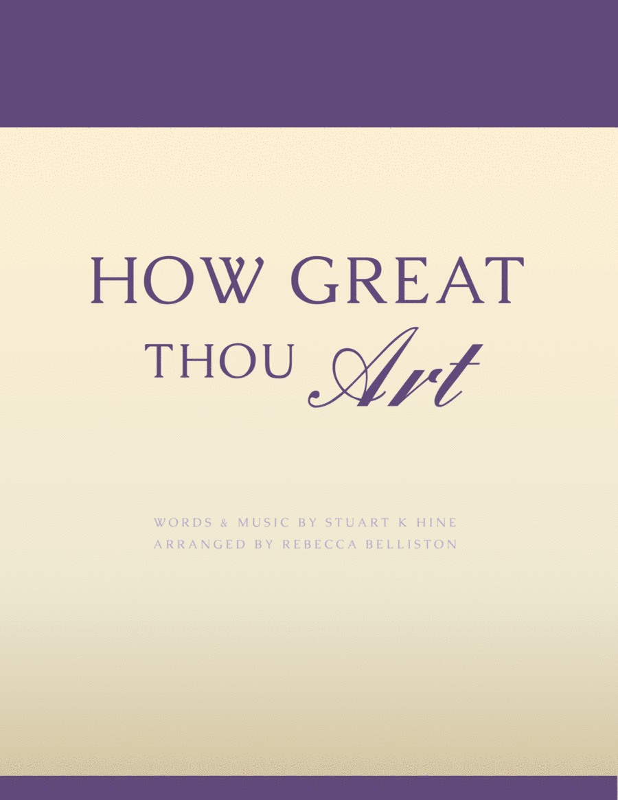 How Great Thou Art (Vocal Solo - High)