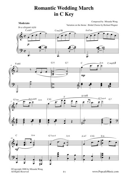 Romantic Wedding March - Short Version in C Key by Miranda Wong