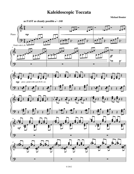 Kaleidescopic Toccata from Nine Character Pieces