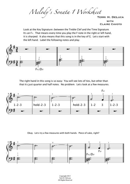 Melody's Sonata Levels 1,2,3