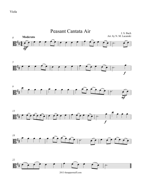 Air from Peasant Cantata
