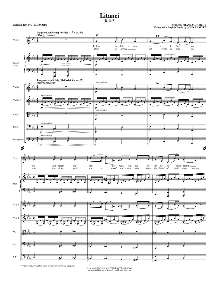Litanei - Full Score