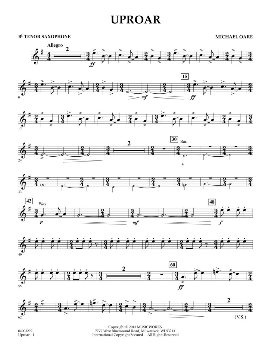 Uproar - Bb Tenor Saxophone