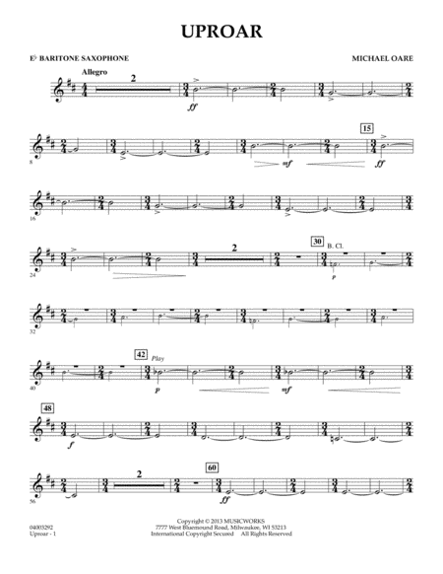 Uproar - Eb Baritone Saxophone
