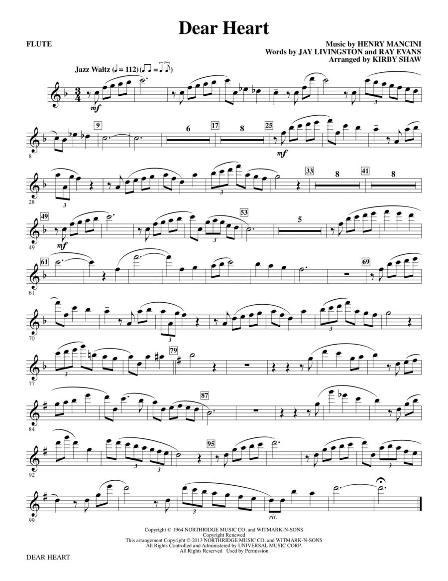 Dear Heart - Flute