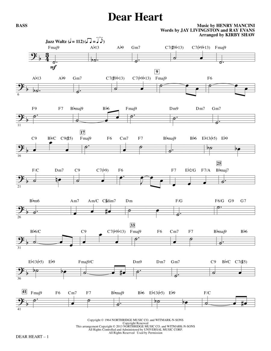 Dear Heart - Bass
