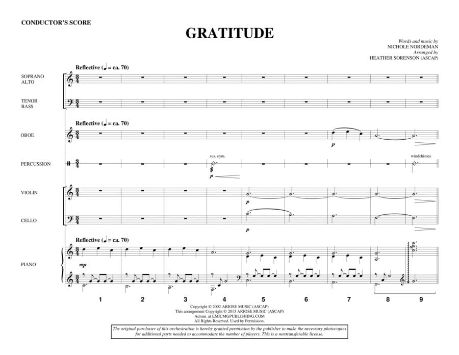 Gratitude - Score