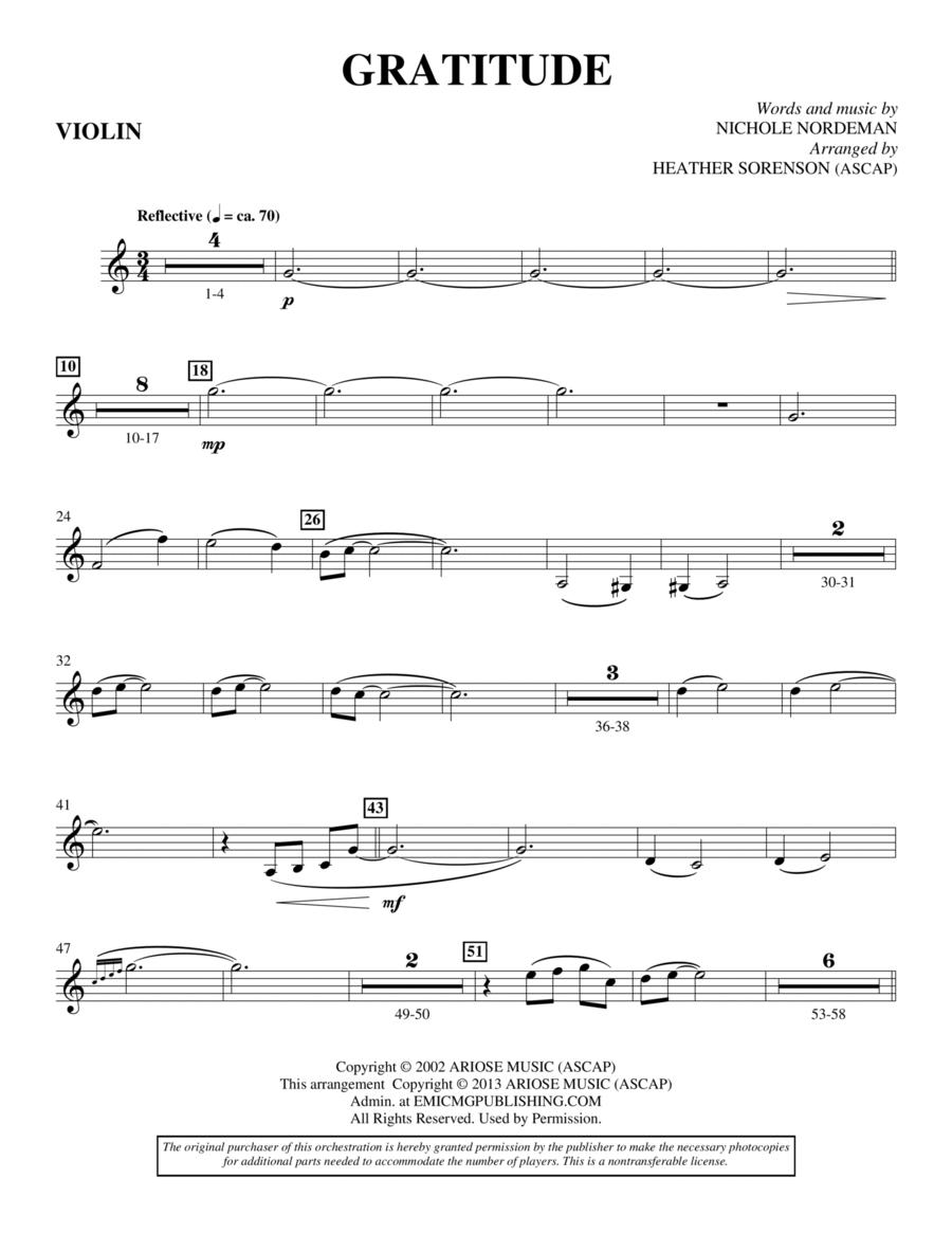 Gratitude - Violin