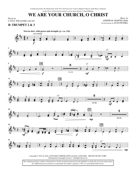 We Are Your Church, O Christ - Bb Trumpet 2,3