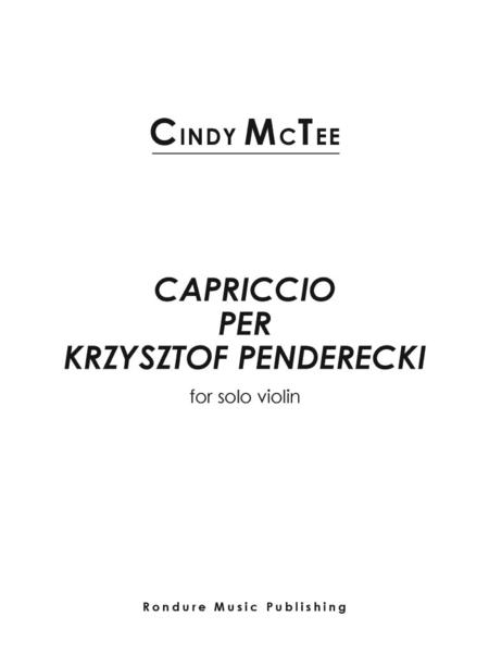 Capriccio per Krzysztof Penderecki
