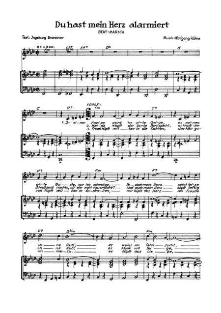 download du hast mein herz alarmiert sheet music by kathrin klaus sku. Black Bedroom Furniture Sets. Home Design Ideas