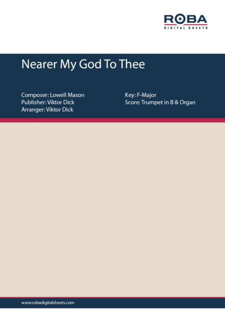 Nearer My God To Thee (Trumpet in B & Organ)