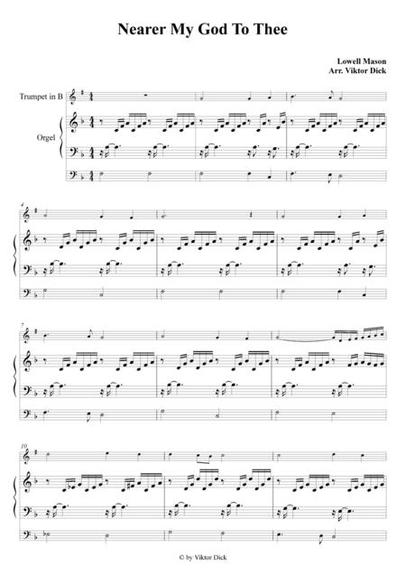 Nearer My God To Thee (Trumpet in B & Organ)