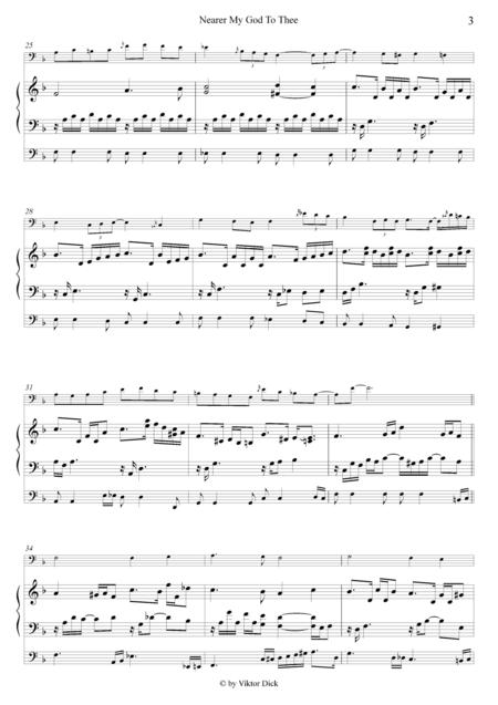 Nearer My God To Thee (Trombone & Organ)