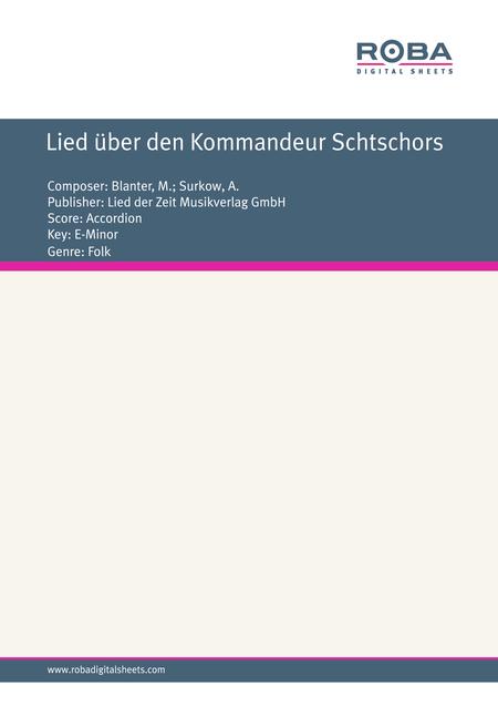 Lied uber den Kommandeur Schtschors