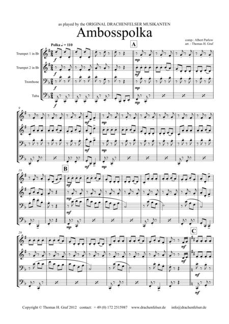 Amboss-Polka - German Polka - Oktoberfest - Brass Quartet
