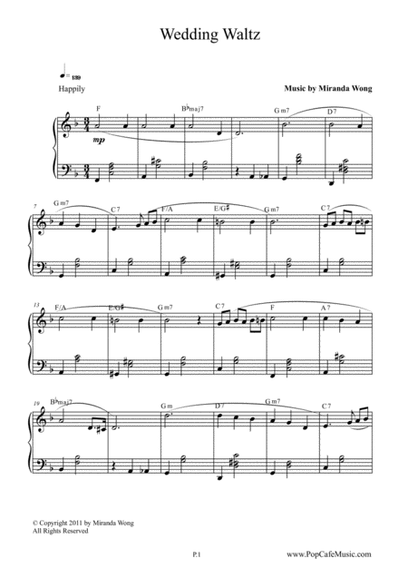 Wedding Waltz - Romantic Piano Solo