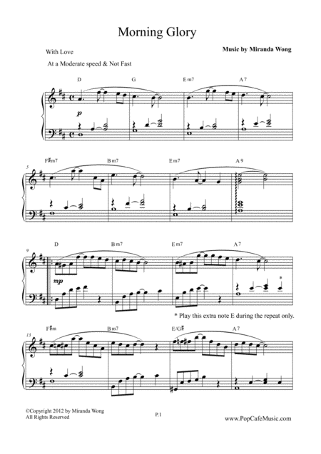 Morning Glory - Wedding Piano Music