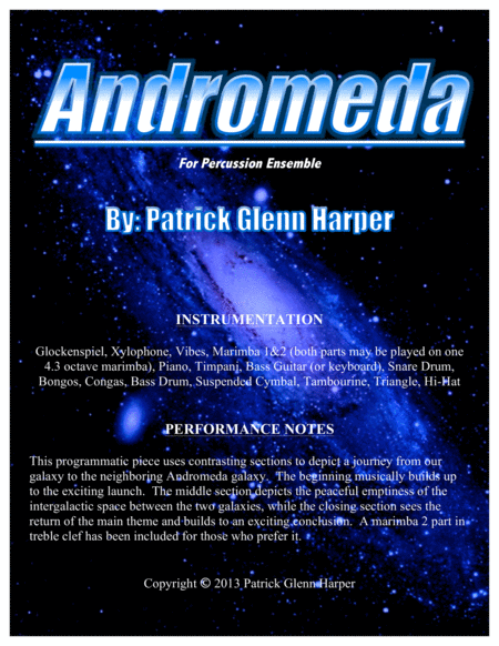 Andromeda - for Percussion Ensemble