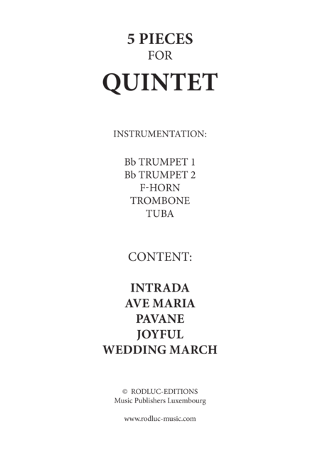 5 pieces for Brass Quintet