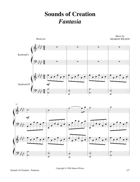 Sounds of Creation - Fantasia (Keyboard Duet; 2 Pianos, 4 Hands)