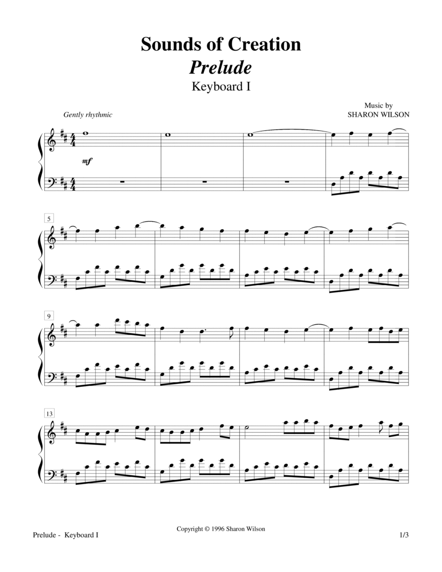 Sounds of Creation - Prelude (Keyboard Duet; 2 Pianos, 4 Hands)