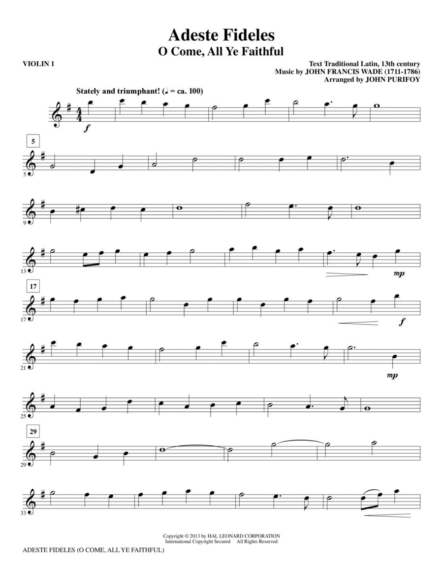 Adeste Fideles - Violin 1